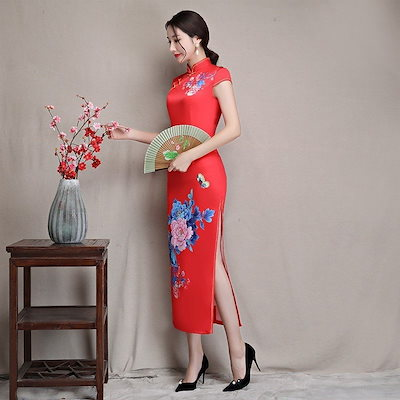 チャイナドレス コスプレ チャイナドレス風ワンピース チャイナドレス 大きいサイズあり チャイナドレス 衣装 チャイナドレス ワンピース ドレス パーティー
