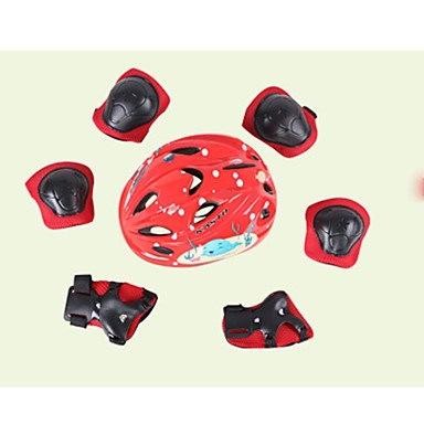 子供用防護服の膝パッド+肘パッド+腕時計サイクリング用スケートヘルメット