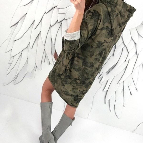 女性のファッションルーニーパーカートップスカモフラージュ女性のアウトレットフーディープルオーバー女性の服