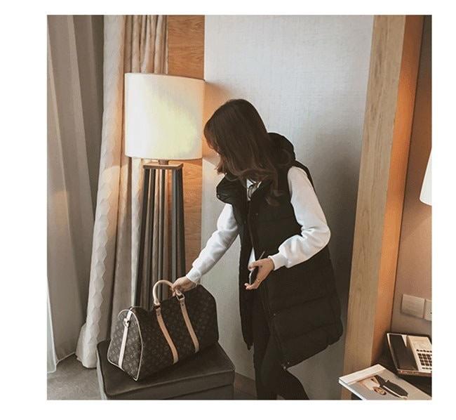 ダウンコート 中綿 ダウンベスト ロング レディース 韓国風 オシャレ 袖なし しっかりと厚手 着回しアイテム 防風 シンプルなデザイン 秋冬コーディネート 大きいサイズ 防風 ブラック グレー