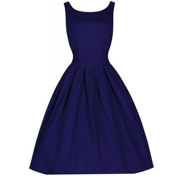 ファッションヴィンテージスタイルレトロ1940年シャツウエアフレアパーティーティーエレガントな女性のドレスサマードレス