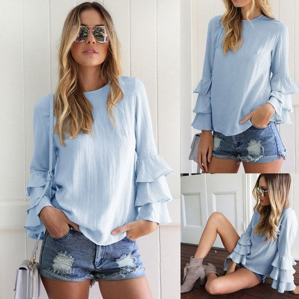 Fashion Women s Summer Loose Top Short Sleeve Blouse Ladies Casual Tops T-Shirt