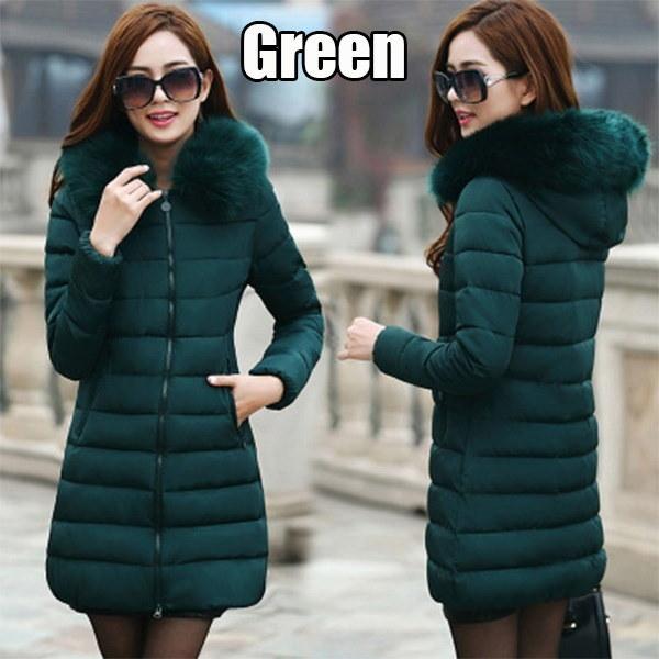 6色女性の冬のジャケットとコート暖かいフード付きの綿のパットパーカー女性の冬のジャック