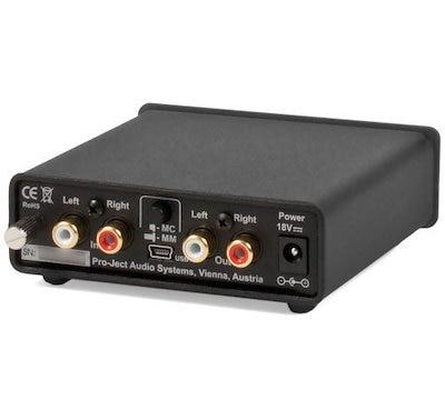 Pro-Ject Audio - ライン&USB出力付きフォノ・ボックスUSB-MM / MC Phonoプリアンプ - Blk