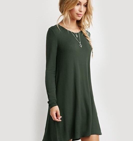 新しいファッションスタイルの女性のカジュアルな秋フルスリーブのOネックドレス