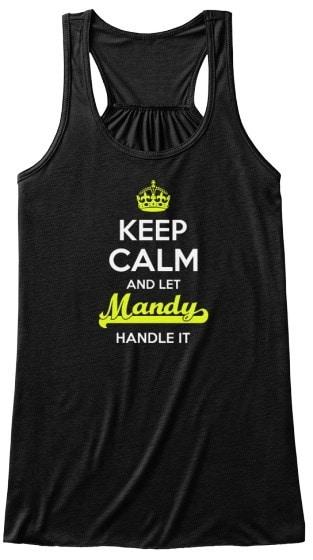 マンディーは静かにしなさい!ベラ流しのタンクタンクトップ