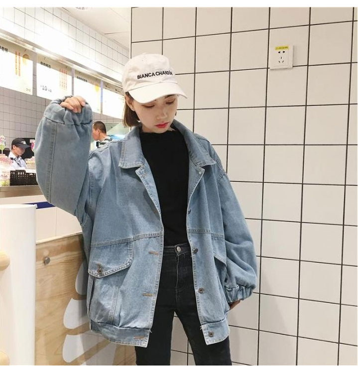 レディース Gジャン アウター デニム ジャケット カジュアルStyle アウター■ストレッチ ジージャン 韓国ファッション 長袖 ベーシック ポケットヴィンテージ デニム ヴィンテージ ジャケット