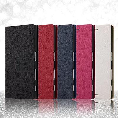 レイ・アウト Xperia XZ 手帳型 ケース マグネット/ホワイト RT-RXPXZSLC3/JW