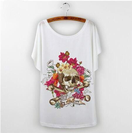 カジュアルTシャツ女性トップスアニメアニマルプリントトトロバットウィングスリーブグラフィックTシャツFemme