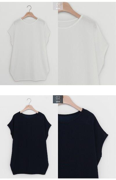 ドルマントップス ゆるい 半袖 Tシャツ 大きい 妊婦 春 夏 4色 A130 【予約】