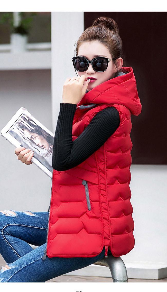 レディースファッション ロングベスト ベスト  ジャケット 秋冬新作 大きいサイズ チョッキ ベスト  韓国 ファッション シンプル 純色  ロングタイプ 中綿入りコート 防寒 アウター 前開き ルー