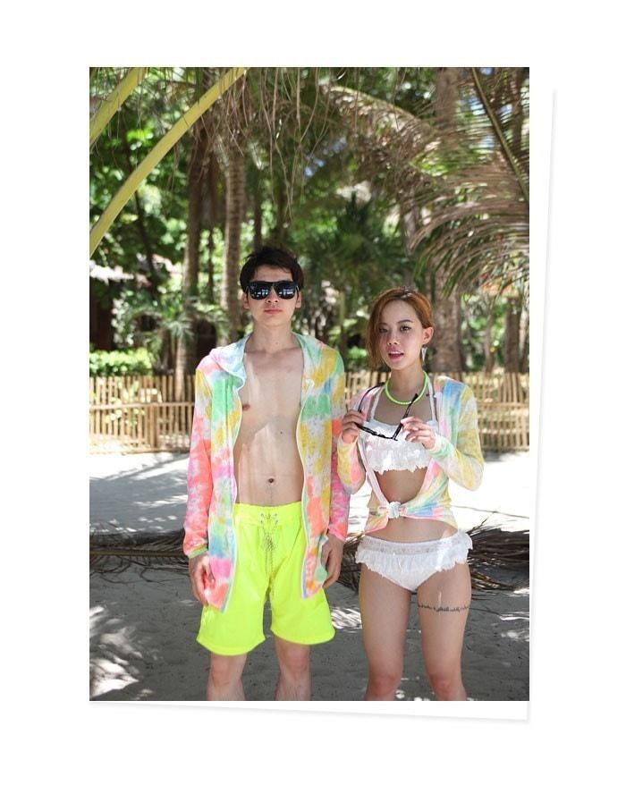 【送料無料】日差しが強い夏の紫外線対策にとっても最適!リゾートや水着の上に着るのも◎/サマーパーカー メンズ/ビーチウェア ビーチウエア