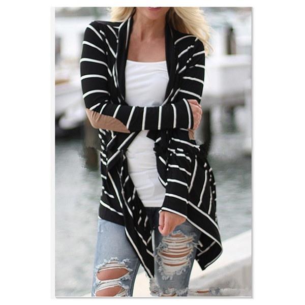 女性のためのファッションルーズコットンカーディガンロングスリーブセータービッグヤードコート