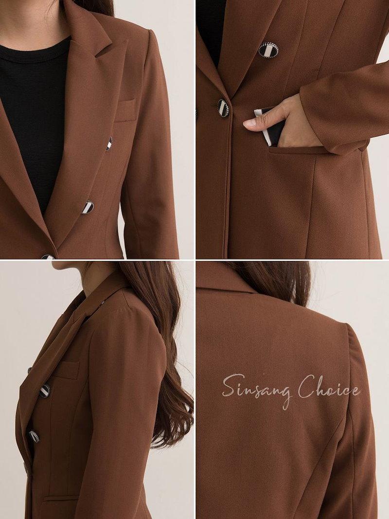 【送料無料】デイリーコーデはもちろんオフィススタイルにも使えるので、一枚持っているととっても重宝するはず☆テーラードジャケット 冬 秋 パワーショルダー 肩パット シンプル 無地 ロング丈 ジャケット