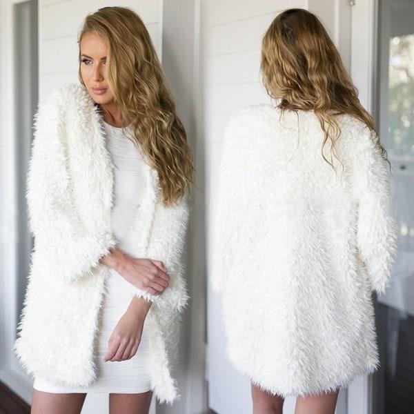 ホットレディースロングスリーブニットカーディガンルーズセーターアウトジャケットコートセーター