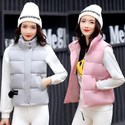 2017秋冬新型のレディース羽織物チョッキ短く厚いジャケット