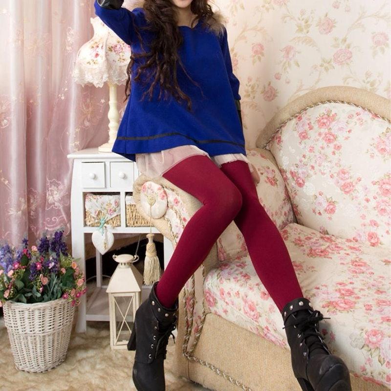 8 Colors Winter Plus Cashmere Leggings Woman Casual High Elastic Thicken Lady S Leggings Warm Pants