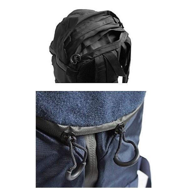 モール対応防水布仕様中央ジッパー式アサルト3DAYリュックサック ブラック