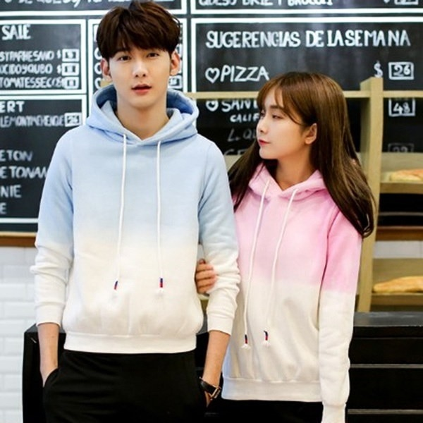 Women Long Sleeves Hoodies Sweets Pink Cotton Fleeces Fashion Casual Pullovers