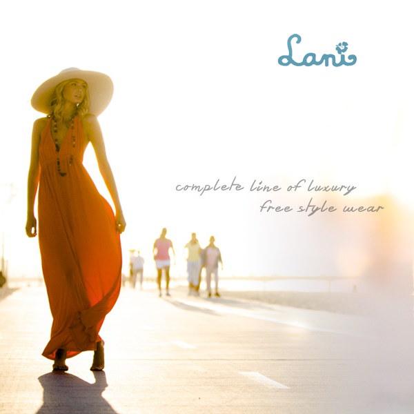 ラニ LANI 9306 タイダイロングスリーヴチュニックトップドレス ワンピース