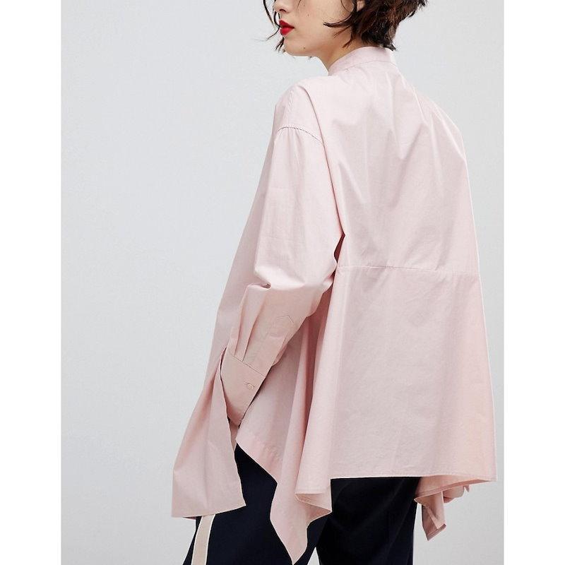 エッセンシャル レディース トップス ブラウス・シャツ【Essentiel Antwerp Purity Oversized Shirt】Peggy pink