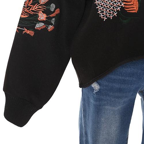 バルーンスリーブヘムライン刺繍ブルゾン