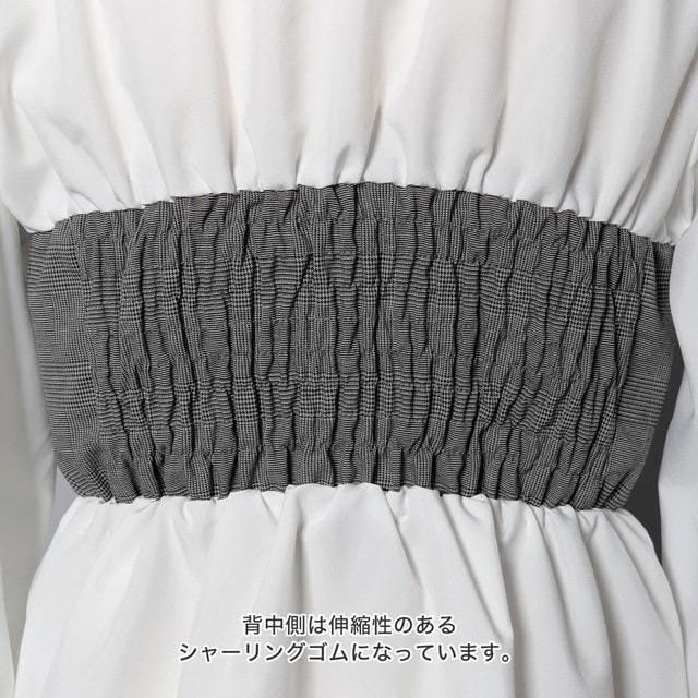 【国内発送】キャンディスリーブビスチェドッキングブラウス