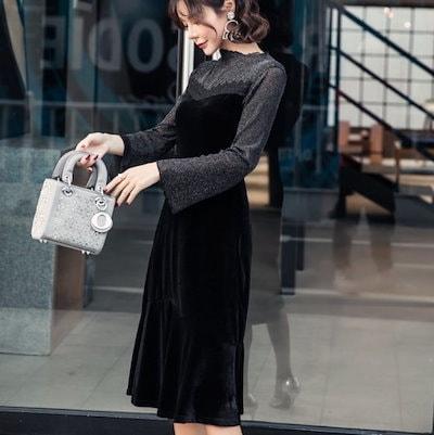 パーティードレス 結婚式 二次会 ワンピース ドレス お呼ばれ 30代 ドレスお呼ばれ 20代 40代 結婚式ドレス K257