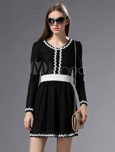 White Sash Chic Cotton Blend Flare Dress for Women