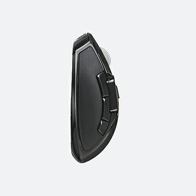 エレコム Ultimate Blueマウス DUALシリーズ ハードウェアマクロ搭載 サイドホイール 高速スクロール 無線 Mサイズ 6ボタン ブラック M-DWM01DBBK