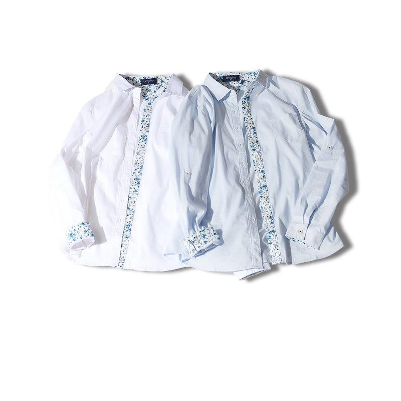 花柄切り替えシャツ ブラウス シャツ 花柄 トップス切り替え 裏地柄 ワイシャツ 長袖 通勤 OL レディース春 夏 秋 冬