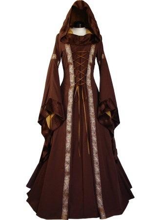 中世の女の子の服レディースヴィンテージビクトリア朝のルネサンスゴシックドレスの衣装