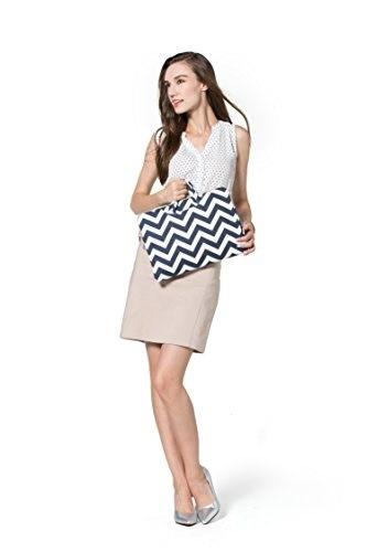 Mosiso Chevron Style Canvas Fabric Laptop Briefcase Handbag Carrying Case Cover-  polo