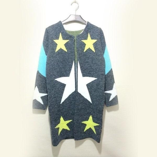 女性長袖カーディガンニットジャケットセーターコートニットウェアオーバーコートトップス