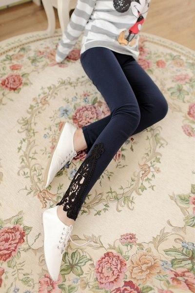 新しいファッション女性レディースレースかぎ針編みセクシーなスキニーレギンスストレッチジーグリングパンツ