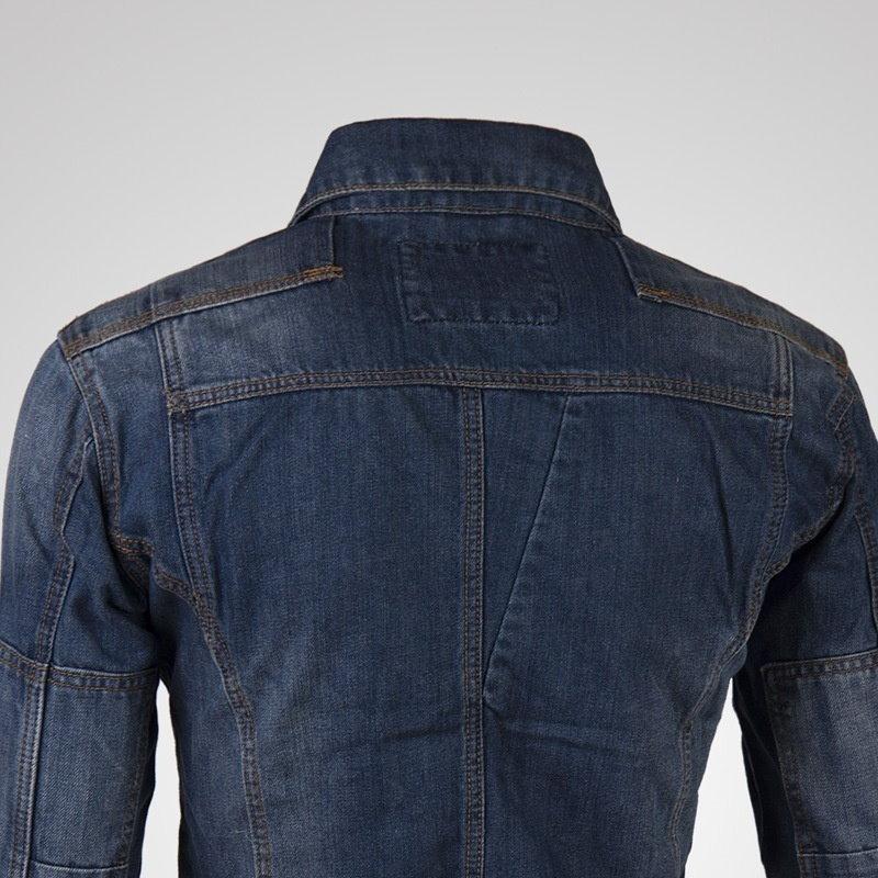 ファッションメンズオートバイデニムジーンズ長袖ジャケットコートジャケット