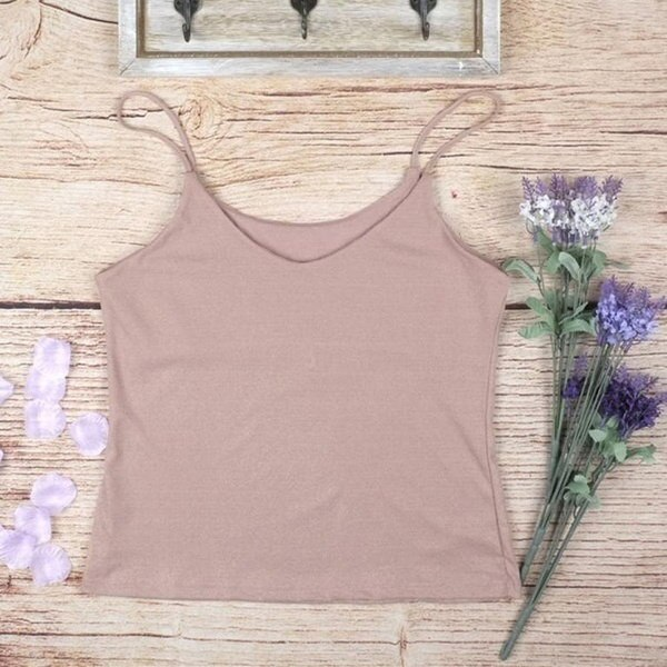 Women Vest Sexy Tops Sexy V Neck Lady Camisole Strap Sleeveless Clothes