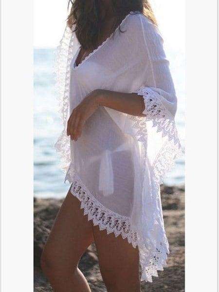 キングクラウン新ファッション女性レディビキニカバーレース中空かぎ針編みの水着水着ビーチドレスアップ