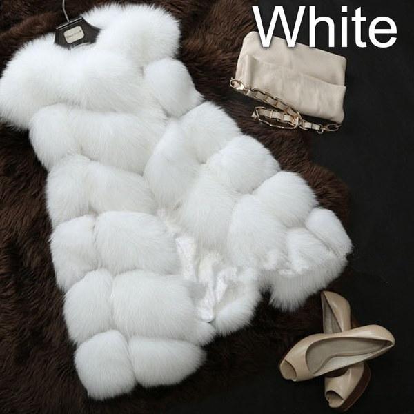 高品質レディースベストコート春秋冬暖かいラグジュアリー毛皮ベストレディースフェイクコートコートベスト