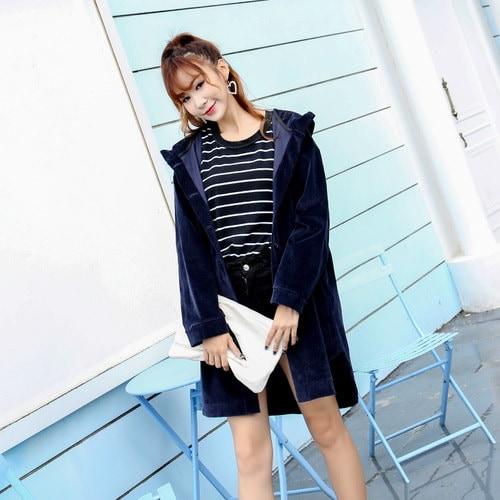 パーカー スリム モコモコ スリット 防寒保暖 フード付き ファッション 原宿系 全2色