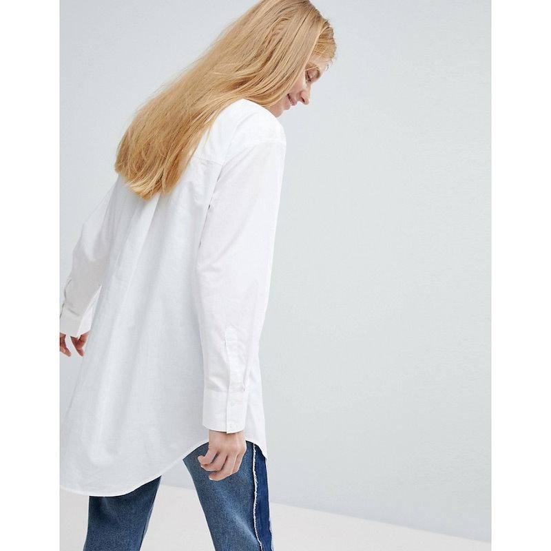 モンキー レディース トップス ブラウス・シャツ【Monki Split Side Shirt】White