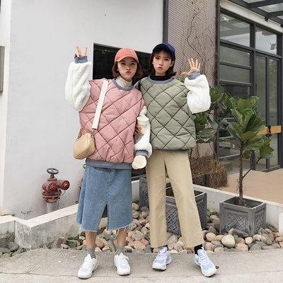 [55555SHOP]冬/女性服/韓国風/ルース/手厚い/ヘッジ/コットンコート/かわいい/+/ふわふわ/袖/暖かい/コットンコート/アウターウェア/学生
