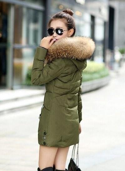 Plus size M-4XL Women Thicken Warm Winter Coat Hood Parka Overcoat Long Jacket Outwear(color black,r