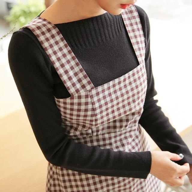 きれいな唇ニットティーデイリールックデイリーバックkorea women fashion style