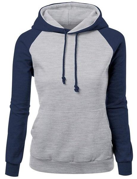 S  -  XXLロングスリーブセーターは、アメリカの女性のファッションルースシャツ6色シンプルなデザインのフードラー
