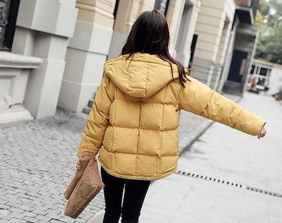 トレンド 冬物 売れ筋 中綿 ダウン ジャケット コート アウター ショート丈 比翼 フード 定番 シンプル 防寒hf00765