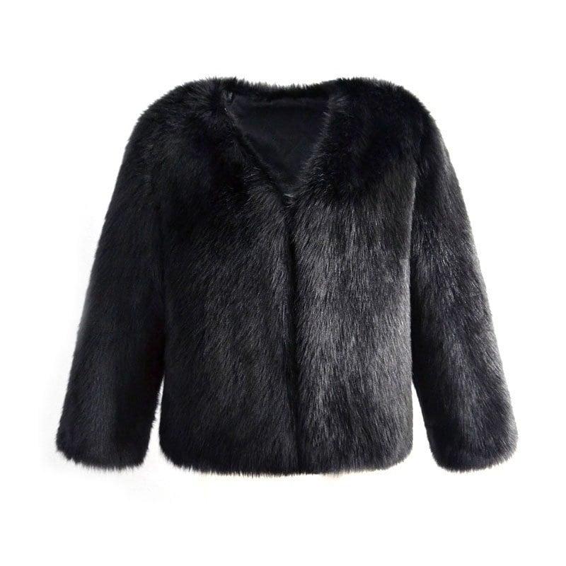 Manteau en fourrure de mode taille grande 4 couleurs Manteau en fourrure en fourrure Manteau chaud V