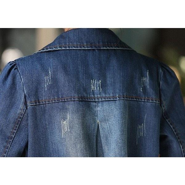 レディース トレンチコート デニム Gジャンジャケット スプリングコート オーバーサイズ デニムトレンチコート 長袖春秋