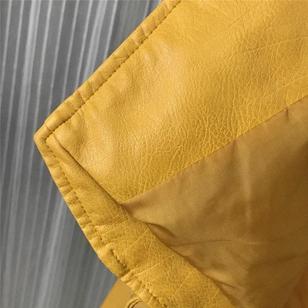 女性ホット長袖PUコートソリッドカラージャケットファッション秋ジッパー