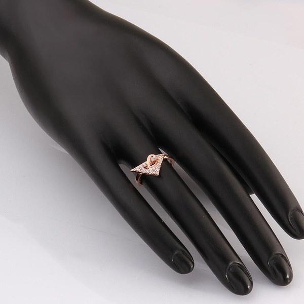 新しいファッションパーティー18kローズゴールドジュエリーリングブランドジュエリージルコンリング女性aneis bijouxに